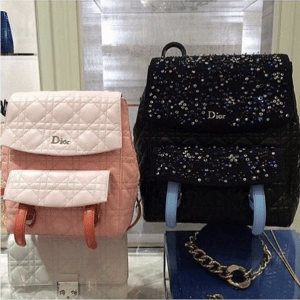 Dior Orange/Pink Small and Black Embellished Large Stardust Bags
