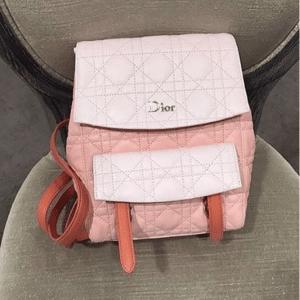 Dior Orange/Pink Stardust Backpack Small Bag 2