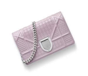 Dior Pale Pink Patent Diorama Baby Pouch Bag