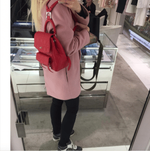 Dior Red Stardust Backpack Small Bag