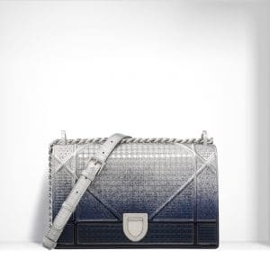 Dior Silver-Tone Graded Metallic Diorama Bag