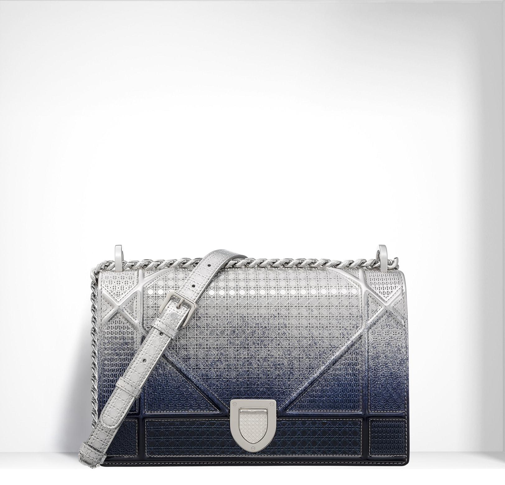 Dior Silver-Tone Graded Metallic Diorama Bag f4bf734914e79