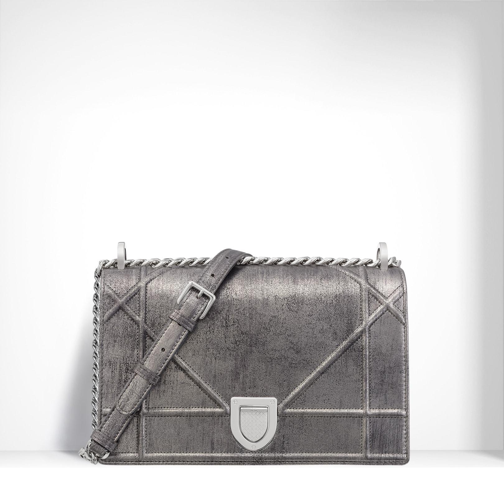 Dior Titanium Metallic and Brushed Calfskin Diorama Bag · Dior Silver-Tone  Graded ... fab642b214442