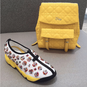 Dior Yellow Stardust Backpack Large Bag