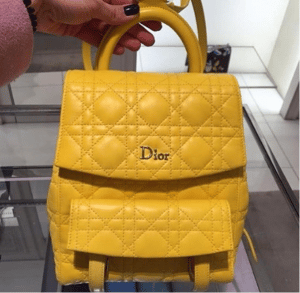 Dior Yellow Stardust Backpack Small Bag