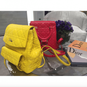 Dior Yellow and Red Stardust Backpack Small Bags