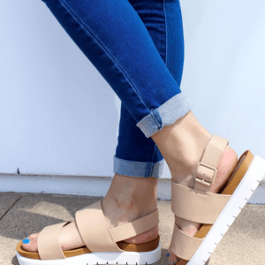 Shop Flat Platform Sandals At The Sf Shop Spotted Fashion