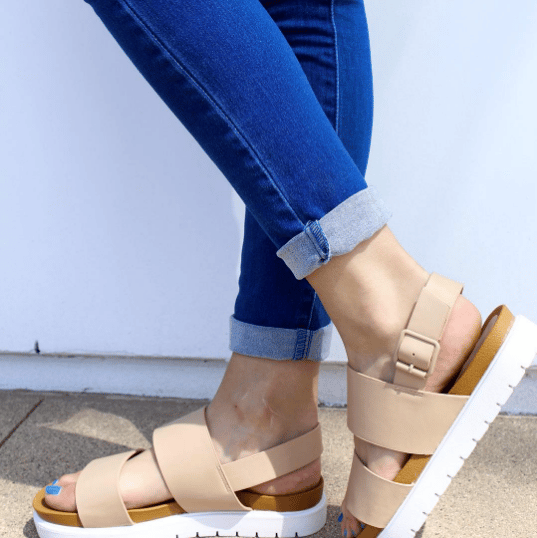 1bb34f7dfbd Shop Flat Platform Sandals At The SF Shop