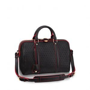Louis Vuitton Black Perforated SC PM Bag