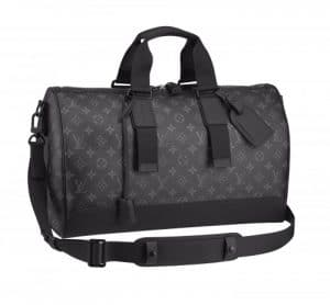 Louis Vuitton Monogram Eclipse Keepall Voyager Bag
