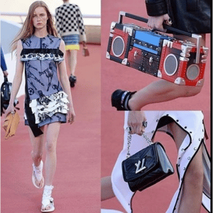 Louis Vuitton Petite Malle Boombox and Black Twist Bags - Cruise 2017