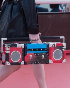 Louis Vuitton Red/Black Petite Malle Boombox Bag 2 - Cruise 2017