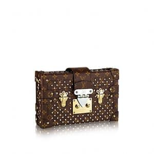 Louis Vuitton Studded Monogram Canvas Petite Malle Bag