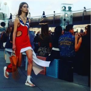 Louis Vuitton Tan Fringed Tote Bag - Cruise 2017