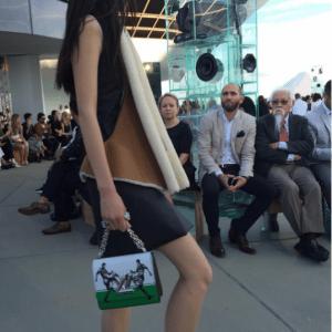 Louis Vuitton White/Green Football Print Twist Bag 2 - Cruise 2017