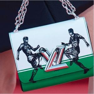 Louis Vuitton White/Green Football Print Twist Bag - Cruise 2017