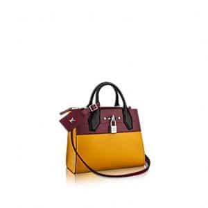 Louis Vuitton Yellow/Burgundy City Steamer Mini Bag