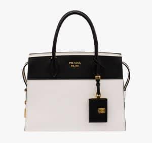 Prada Black/White Esplanade Medium Bag