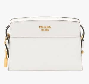 Prada White Esplanade Shoulder Bag