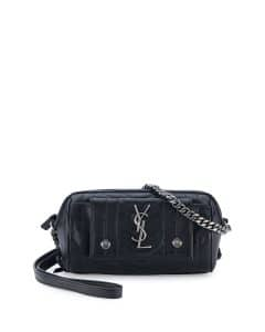 Saint Laurent Black Rider East-West Roll Camera Bag