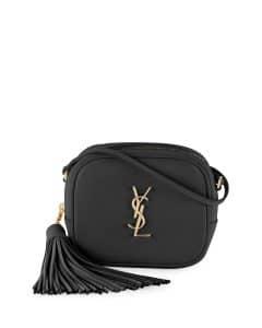 Saint Laurent Dark Anthracite Monogram Blogger Crossbody Bag