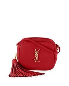 Saint Laurent Red Monogram Blogger Crossbody Bag