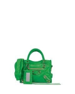 90dc74ed138 Balenciaga Vert Fluo Suede Classic Metallic Edge City Bag