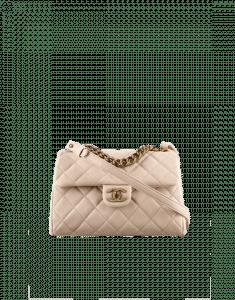 Chanel Beige Trapezio Small Flap Bag