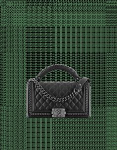 Chanel Black Boy Chanel Handle Flap Medium Bag