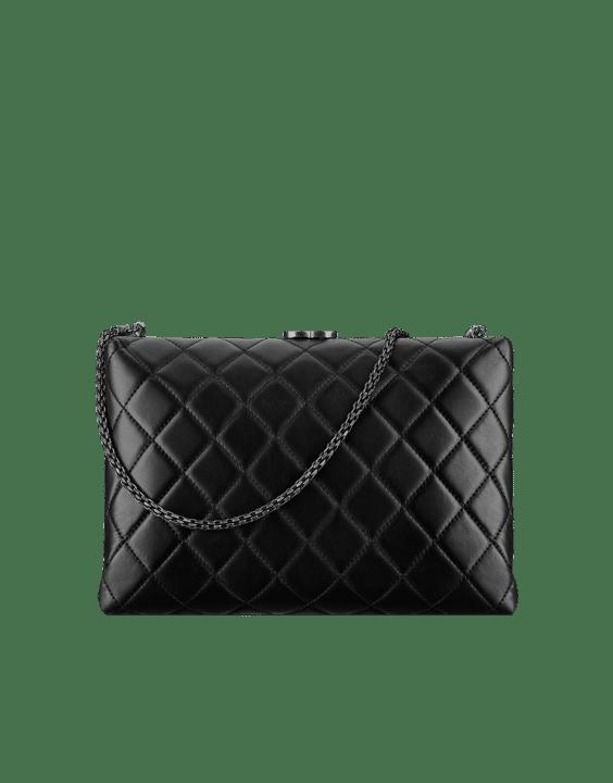 Chanel Black Kiss Lock Medium Bag