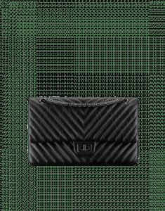 Chanel Black Size 226 Chevron 2.55 Flap Bag