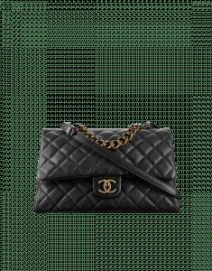 Chanel Black Trapezio Large Flap Bag