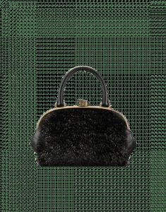 Chanel Black/Gold Orylag:Calfskin Retro Donna Bowling Bag