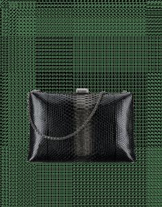 Chanel Black/Gold Python Kiss-Lock Bag