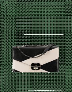 Chanel Black/Ivory Lizard Flap Bag