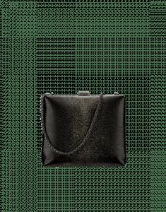 Chanel Black/Silver Lizard Kiss-Lock Bag