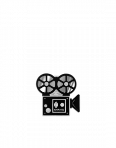 Chanel Black/White Film Projector Buonasera Minaudiere Bag