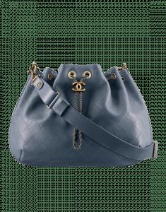 Chanel Blue Large Drawstring Bag