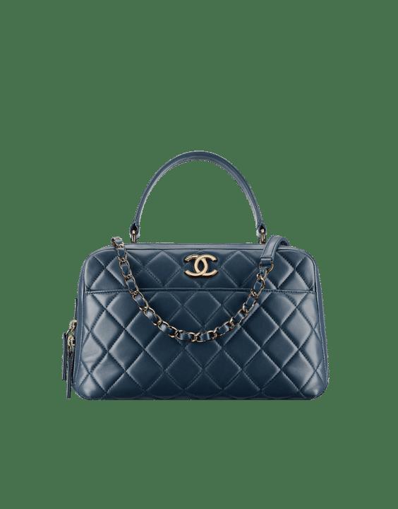 Chanel Blue Trendy Cc Small Bowling Bag