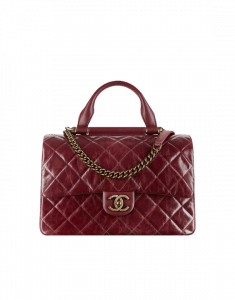 Chanel Burgundy Flap Bag with Handle