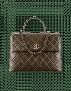 Chanel Dark Khaki Trendy CC Large Top Handle Bag