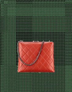 Chanel Dark Red Kiss-Lock Bag