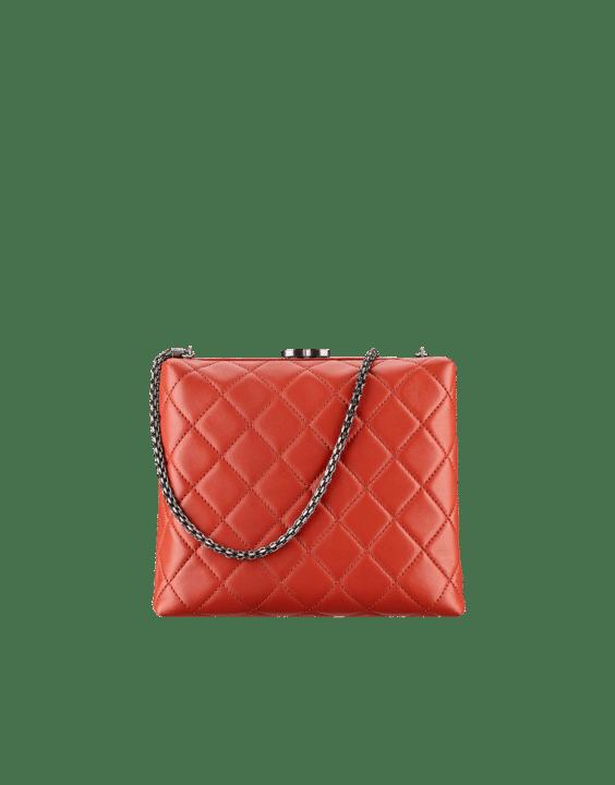 Chanel Dark Red Kiss Lock Bag