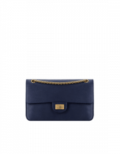 Chanel Navy Blue Size 225 2.55 Nude Bag