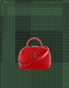Chanel Red Coco Curve Vanity Case Bag