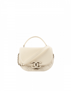 Chanel White Coco Curve Flap Small Bag