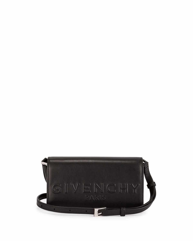 f452ae576d Givenchy Black Debossed Logo Crossbody Bag