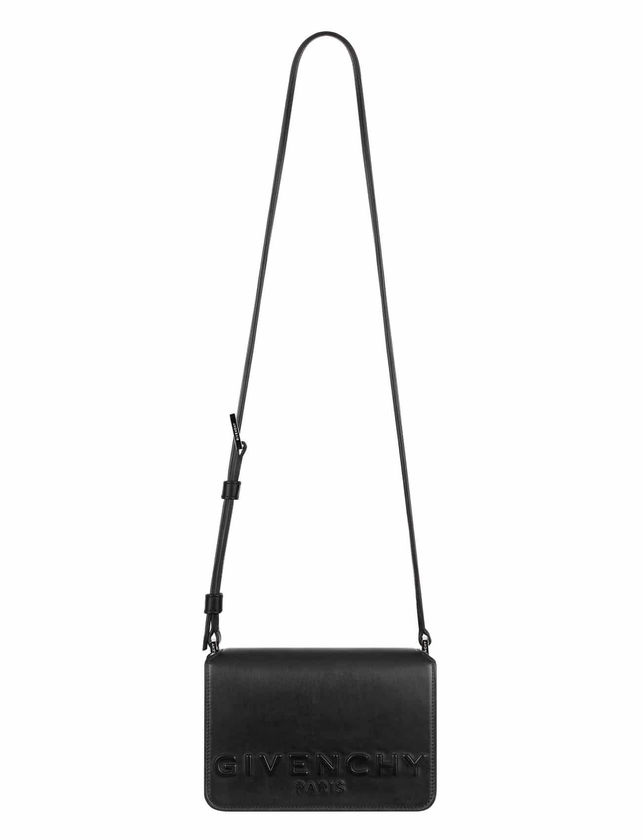 3f462ecea3 Givenchy Black Debossed Logo Small Cross Body Bag · Givenchy Black  Embellished with Metal Crosses Chain ...