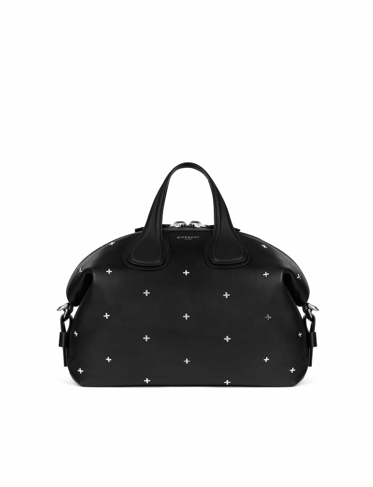 2dab274817 Givenchy Black Embellished with Metal Crosses Nightingale Medium Bag