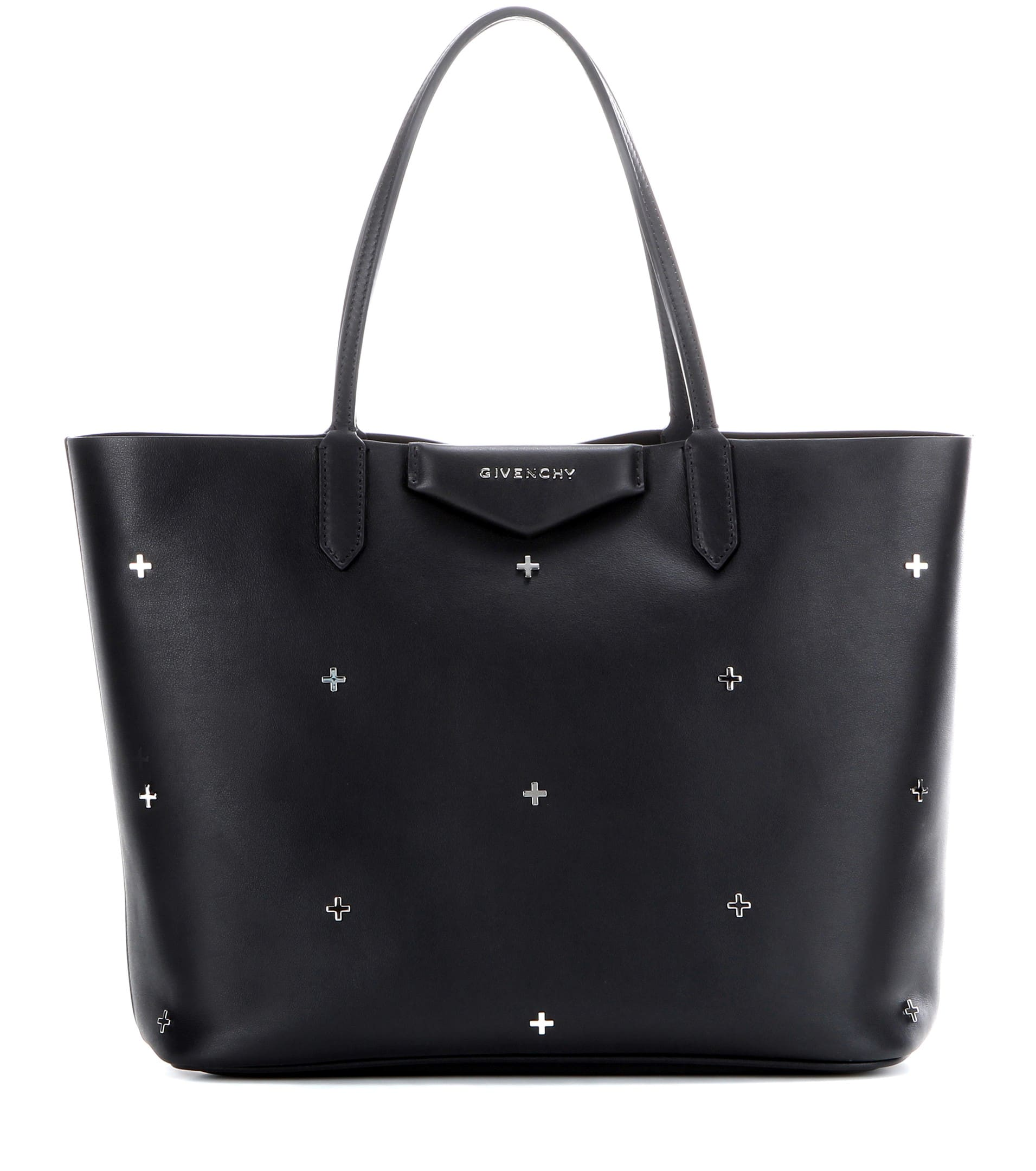 3cc219bf90 Givenchy Black Embellished with Metal Crosses Small Antigona Shopper Bag